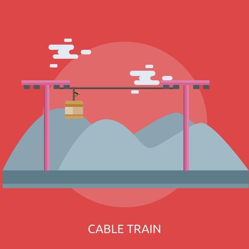 Cable Tren Conceptual Ilustración Diseño