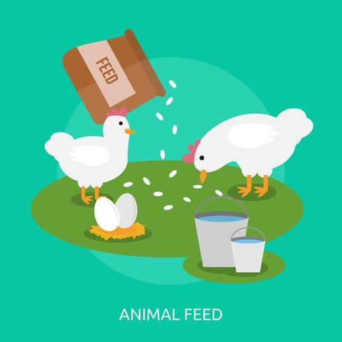 Alimentación animal ilustración conceptual diseño