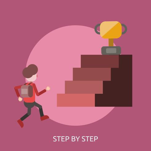 Step By Step Conceptual illustration Design