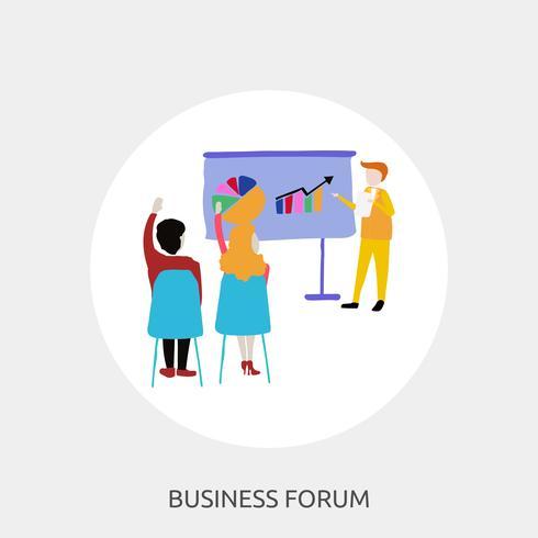 Foro de negocios Ilustración conceptual Diseño.