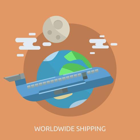 Worldwide Shipping Conceptual illustration Design