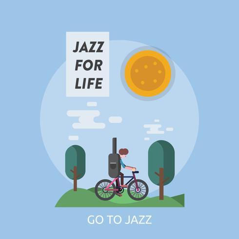 Go To Jazz Conceptual illustration Design vector