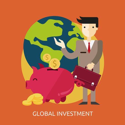 Progettazione dell'illustrazione concettuale di investimento globale