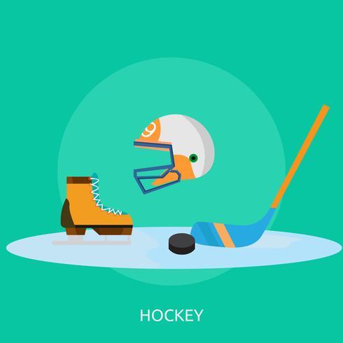 Hockey conceptual ilustración diseño