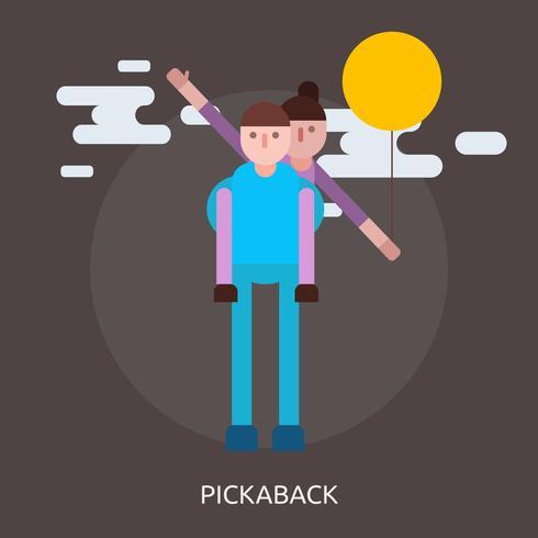 Pickaback Conceptual ilustración Diseño
