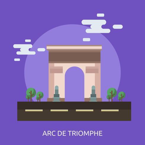 Arc de Triomphe Conceptual ilustración Diseño