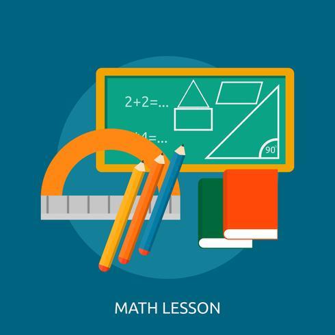 Ilustração conceitual de lição de matemática Design