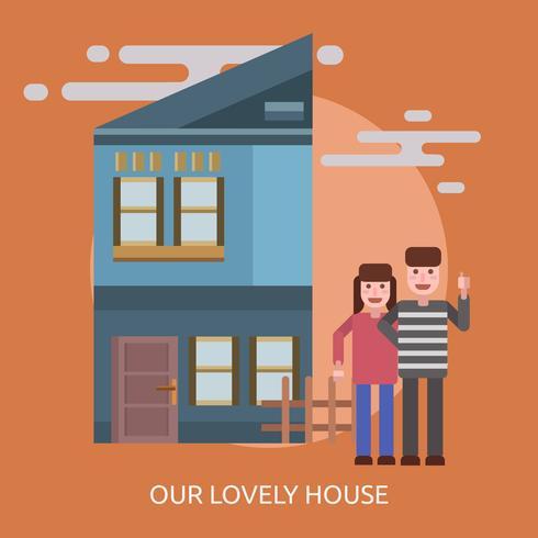 Nuestra Casa Encantadora Ilustración Conceptual Diseño