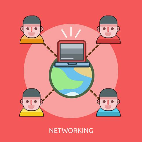 Diseño conceptual de la ilustración de redes