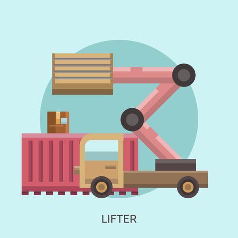Lifter Konceptuell illustration Design