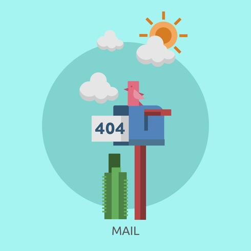Mail Conceptual illustration Design