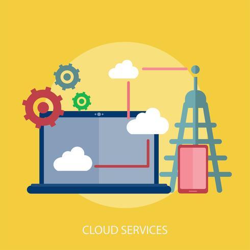 Cloud Services Conceptual ilustración Diseño