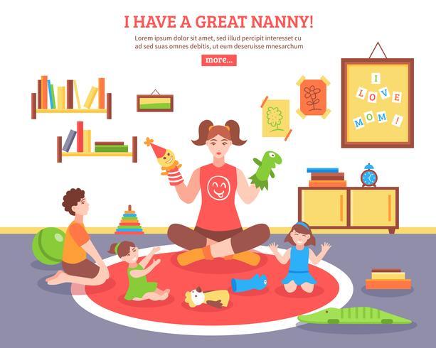 Ilustración de concepto de niñera