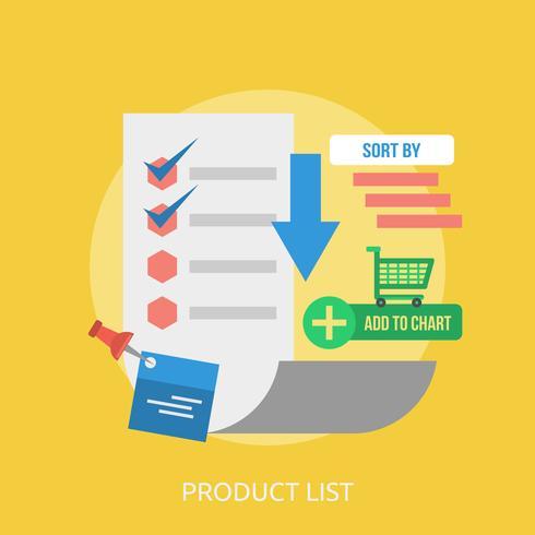 Product List Conceptual illustration Design vector