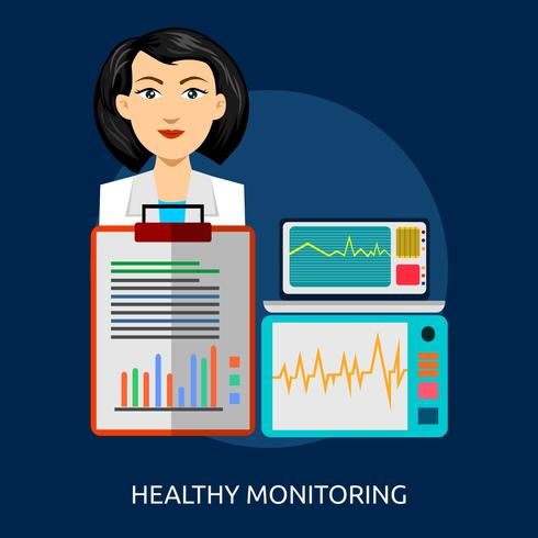 Monitoreo saludable Ilustración conceptual Diseño