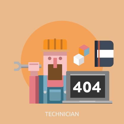 Tecnico Conceptual Ilustración Diseño vector