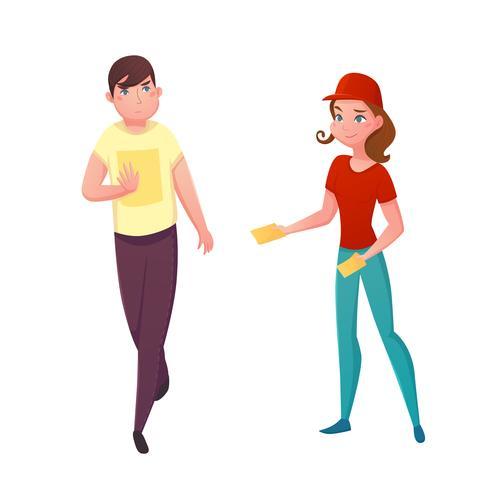 Illustration vectorielle de Flyer Promotion