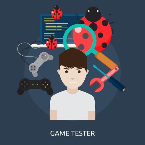 Game Tester Conceptual ilustración Diseño