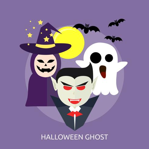 Halloween Ghost Conceptual illustration Design vector