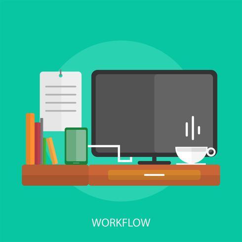 Workflow Conceptual illustration Design