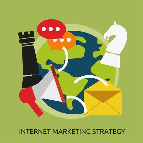 Internet Marketing Estrategia Conceptual Ilustración Diseño