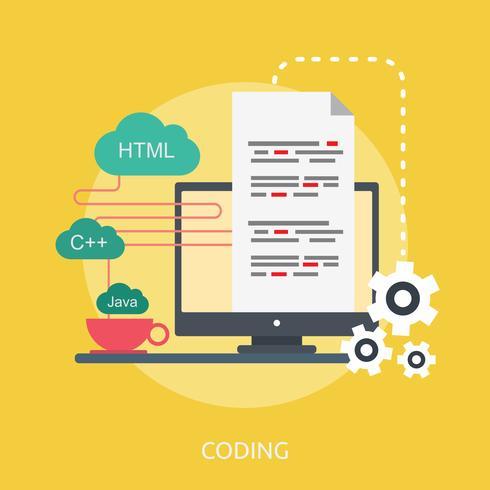 Codificación Conceptual Ilustración Diseño