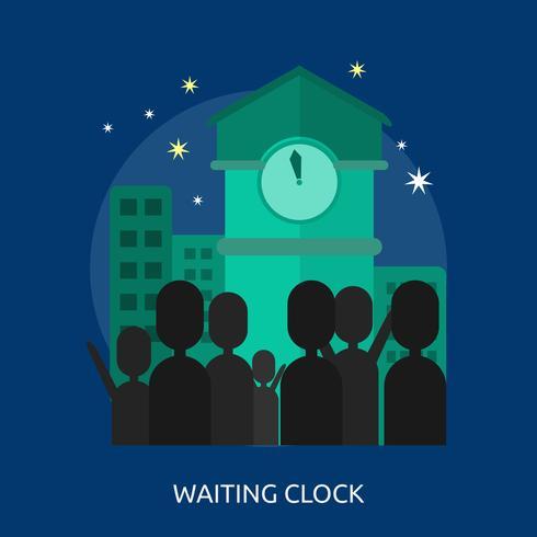 Waiting Clock Conceptual illustration Design