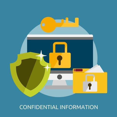 Confidential Information Conceptual illustration Design