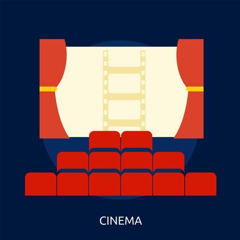 Kino konzeptionelle Darstellung Design