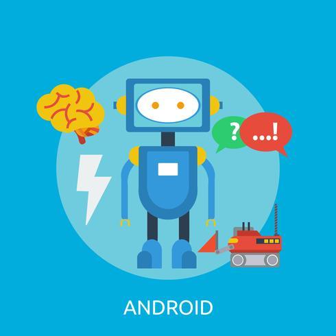 Android Conceptual ilustración Diseño