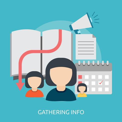 Gathering Info Conceptual illustration Design vector
