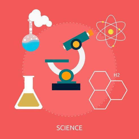 Ciencia Conceptual Ilustración Diseño