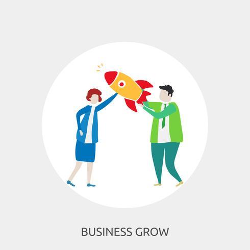 Business Grow Konceptuell illustration Design
