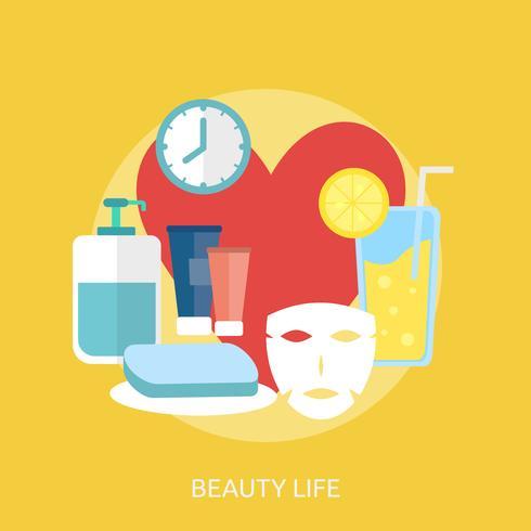 Beauty Life Conceptual illustration Design