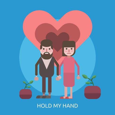 Hold My Hand Ilustración conceptual Diseño vector