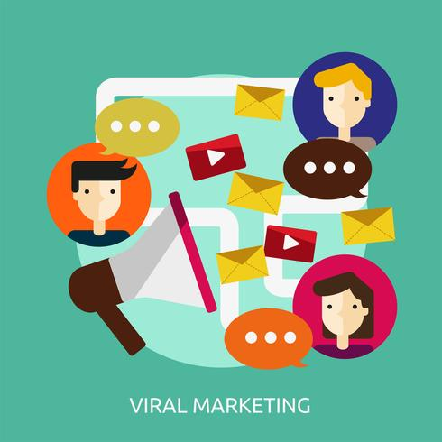 Marketing Viral Conceptual Ilustración Diseño vector