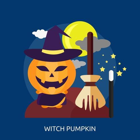 Witch Pumpkin Conceptual illustration Design vector