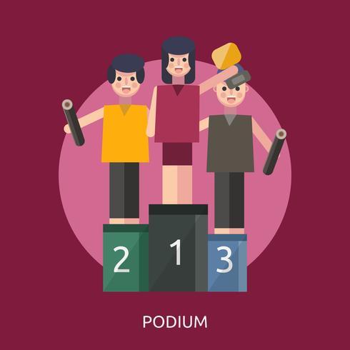 Podium Conceptual illustration Design