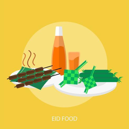 Eid Food Conceptual illustration Design