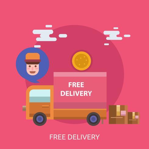 Ilustração conceitual de entrega gratuita Design vetor