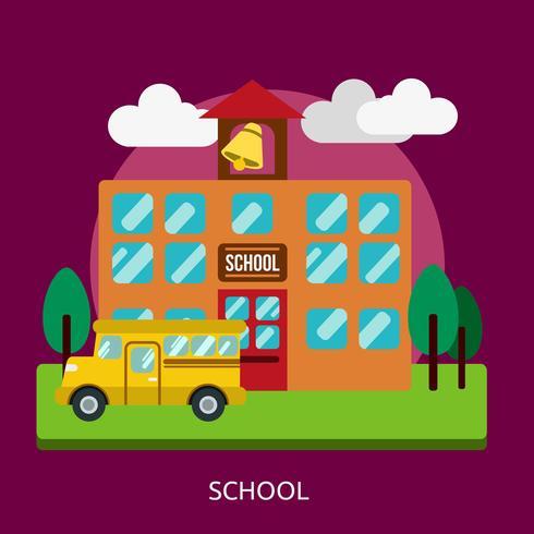 Schulkonzeptionelle Illustration Design
