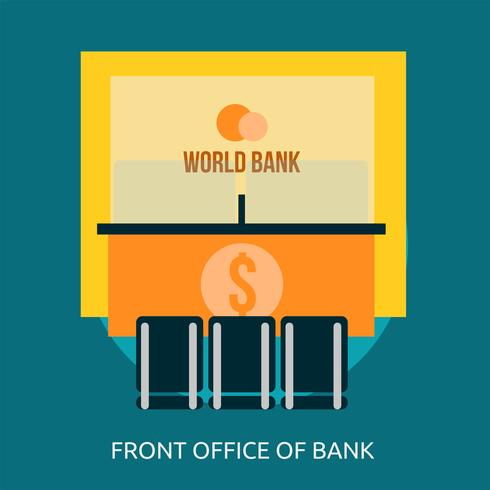Front Office of Bank Conceptual illustration Design