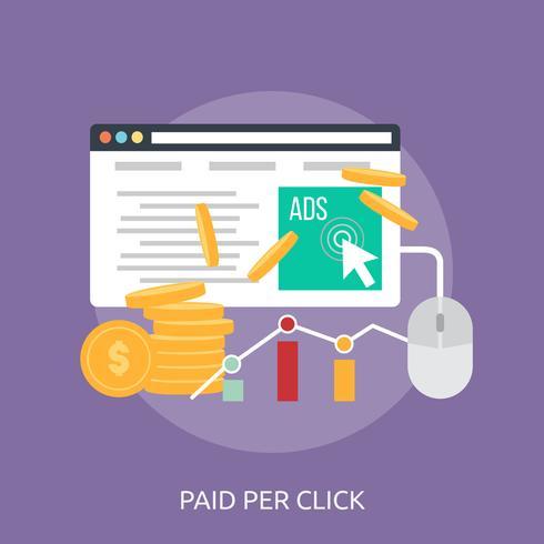 Bezahlte Pro Click-Konzeptionelle Darstellung