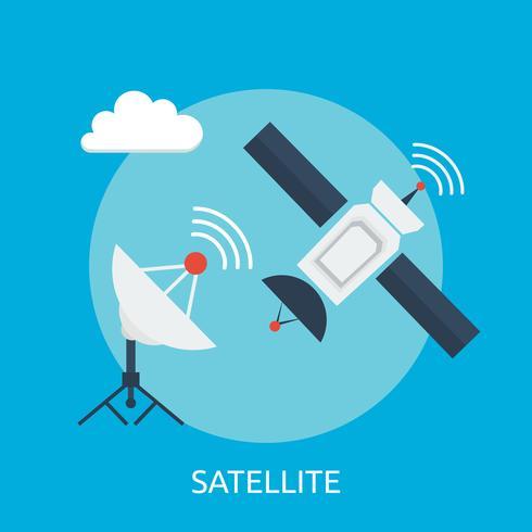 Progettazione dell'illustrazione concettuale satellite