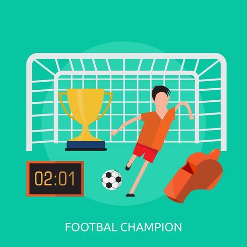 Campeón Footbal Conceptual Ilustración Diseño