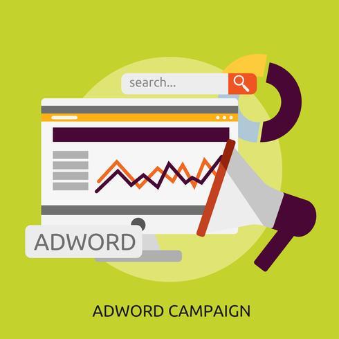Adword Campaign Conceptueel illustratieontwerp