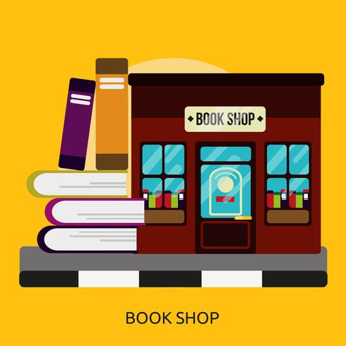 Librería Conceptual Ilustración Diseño vector