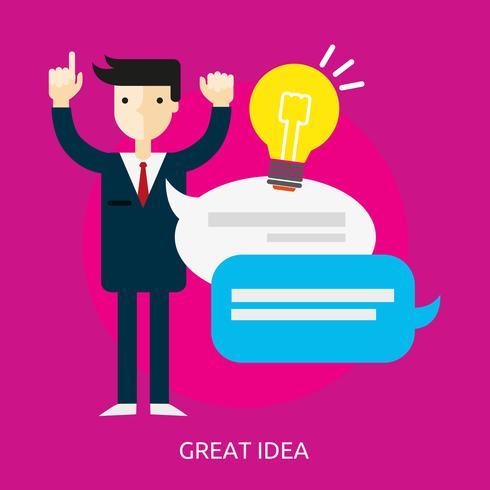 Gran Idea Conceptual Ilustración Diseño vector