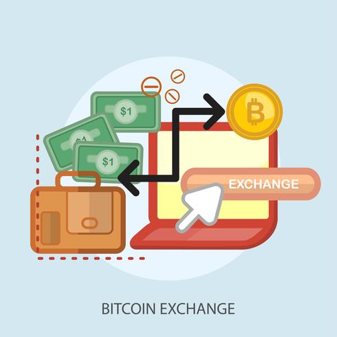 bitcoin échange conceptuel illustration design