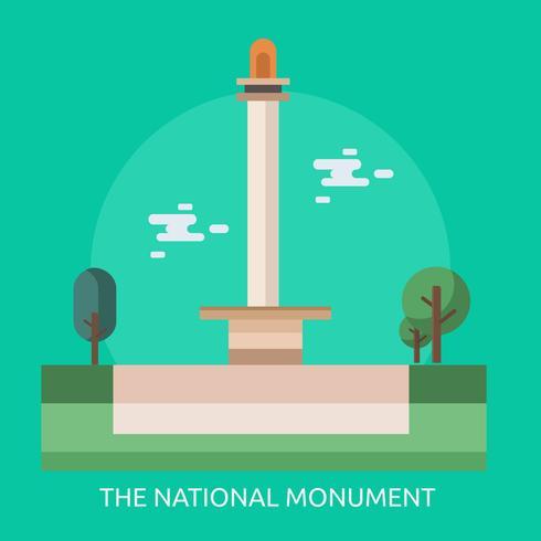 Il disegno dell'illustrazione concettuale del monumento nazionale